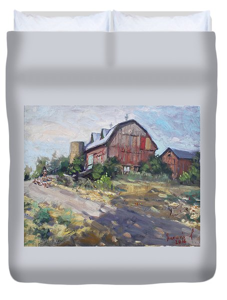 Barns In Georgetown Duvet Cover