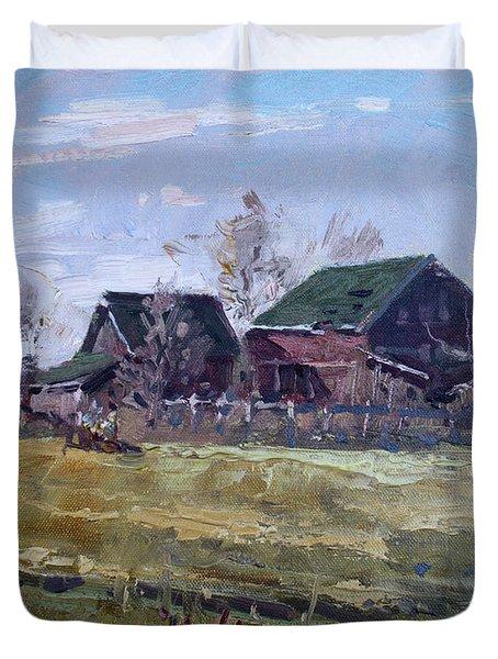 Barns In Niagara County Duvet Cover