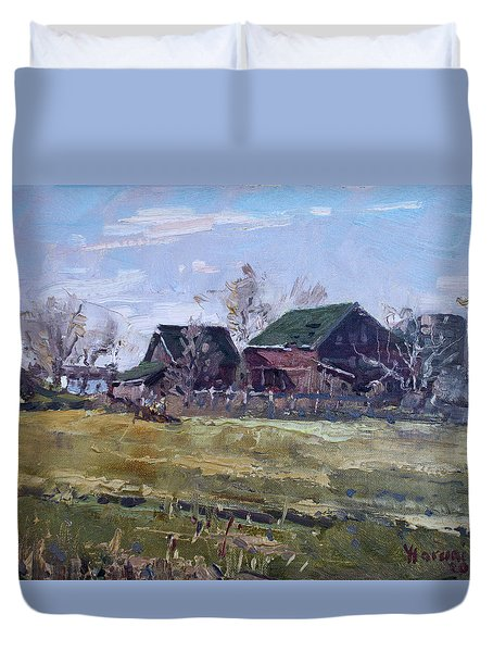 Barns In Niagara County Duvet Cover