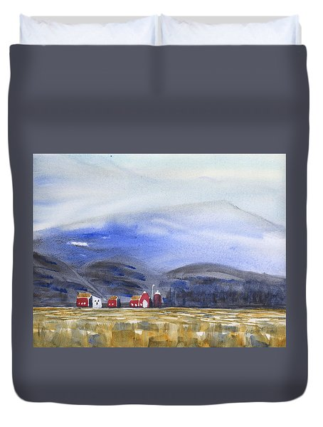 Barns In The Valley Duvet Cover