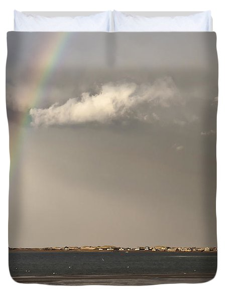 Barnstable Harbor Rainbow Duvet Cover by Charles Harden