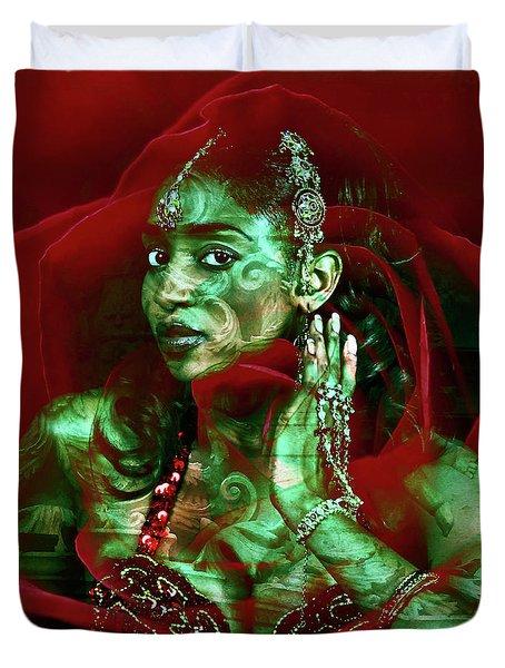 Baroque Meets Oriental Rose Duvet Cover