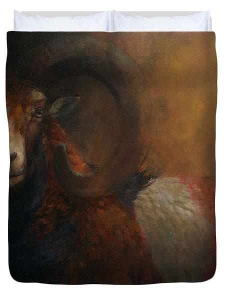 Baroque Mouflon Portrait Duvet Cover