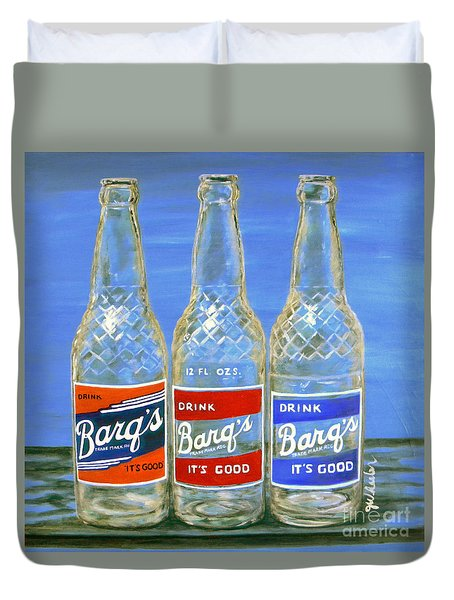 Barq's Trifecta Duvet Cover