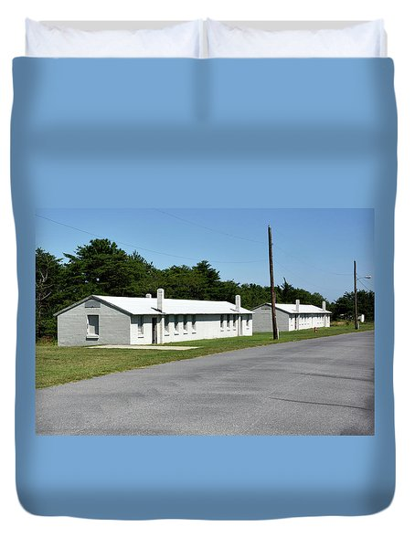 Duvet Cover featuring the photograph Barracks At Fort Miles - Cape Henlopen State Park by Brendan Reals