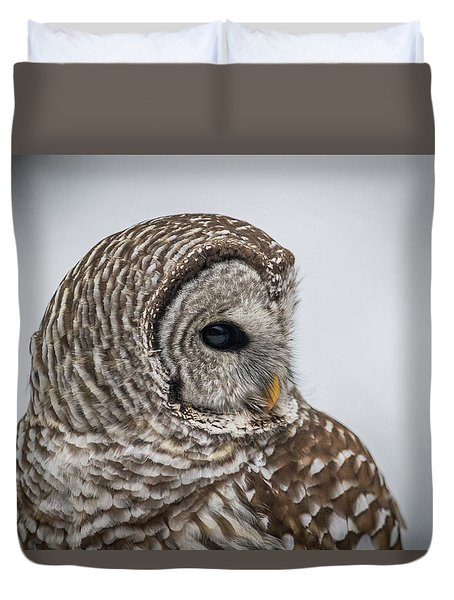 Duvet Cover featuring the photograph Barred Owl Portrait by Paul Freidlund