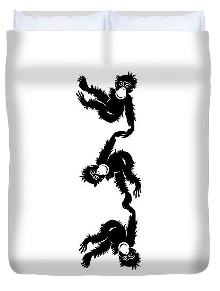 Barrel Full Of Monkeys T-shirt Duvet Cover