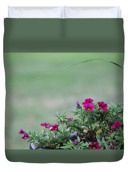 Barrel Of Flowers Duvet Cover