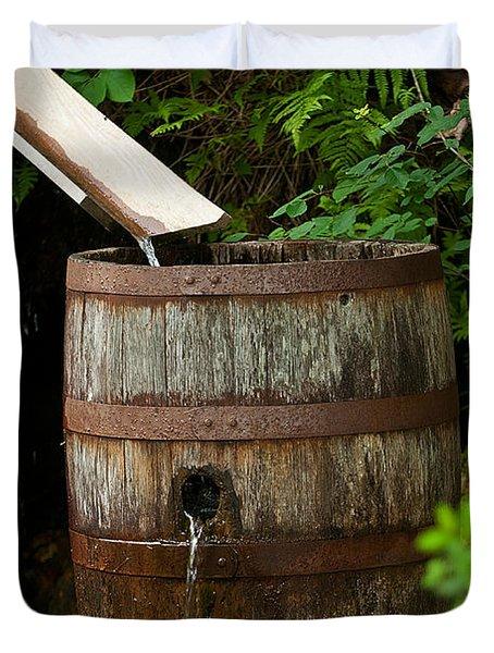 Barrel Of Water Duvet Cover