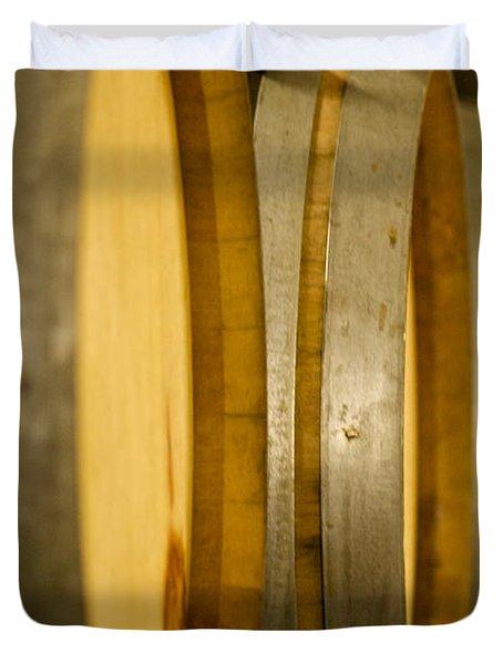 Barrels Of Fun Duvet Cover by Lisa Knechtel
