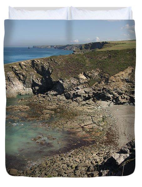Barretts Zawn In Cornwall Duvet Cover
