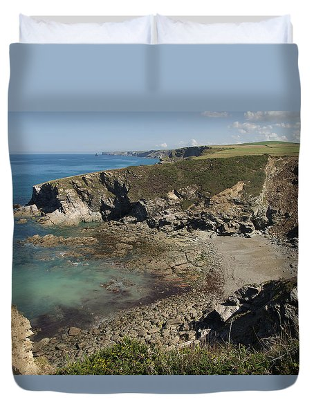 Barretts Zawn In Cornwall Duvet Cover