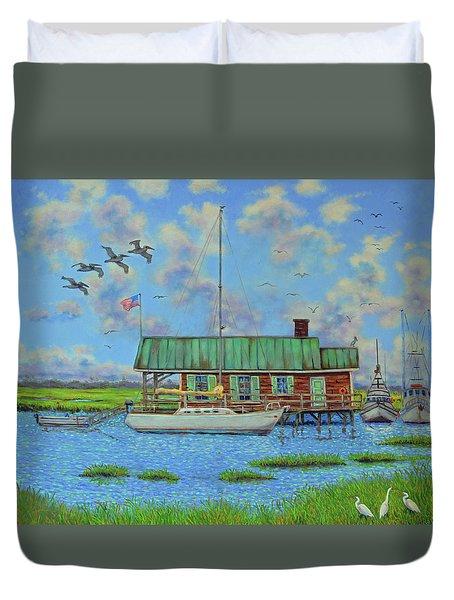 Barriar Island Boathouse Duvet Cover