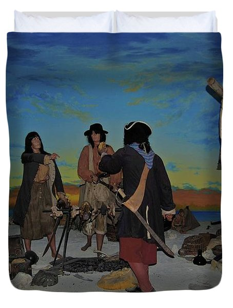 Barring Buccaneers Duvet Cover by DigiArt Diaries by Vicky B Fuller