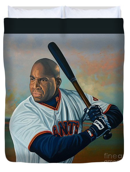 Barry Bonds Duvet Cover by Paul Meijering