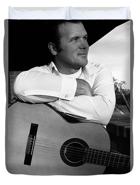 Barry Sadler With Guitar 2 Tucson Arizona 1971 Duvet Cover