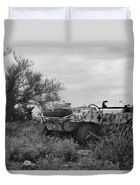 Barry Sadlers 1941 German Army Vw Amphibian  With Typewriter Tucson Arizona 1971 Duvet Cover