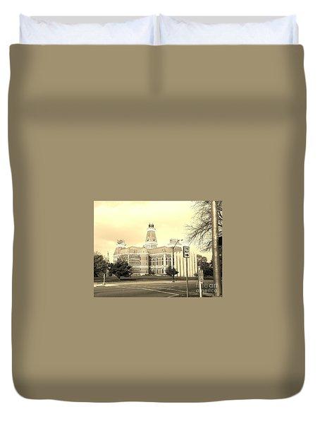 Bartholomew County Courthouse Columbus Indiana - Sepia Duvet Cover