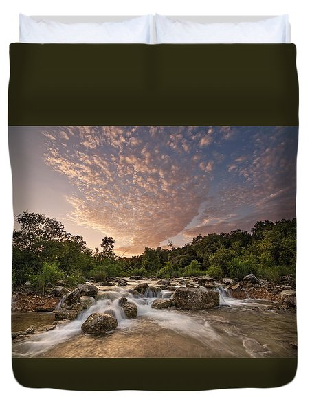 Barton Creek Greenbelt At Sunset Duvet Cover