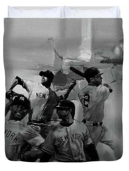 Base Ball Players Duvet Cover by Gull G