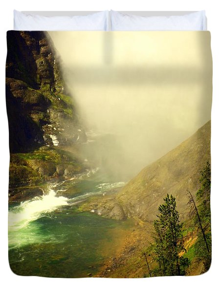 Base Of The Falls 2 Duvet Cover by Marty Koch
