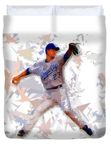 Duvet Cover featuring the painting Baseball 23 by Movie Poster Prints