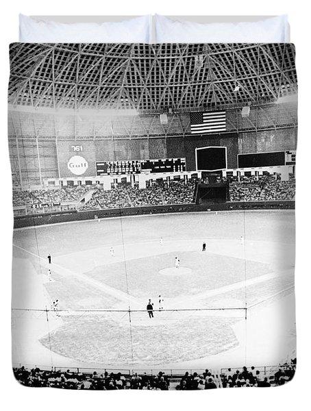 Baseball: Astrodome, 1965 Duvet Cover