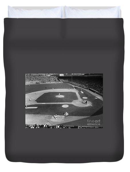 Baseball Game, 1967 Duvet Cover