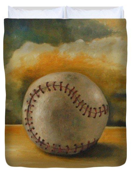 Baseball Duvet Cover by Leah Saulnier The Painting Maniac