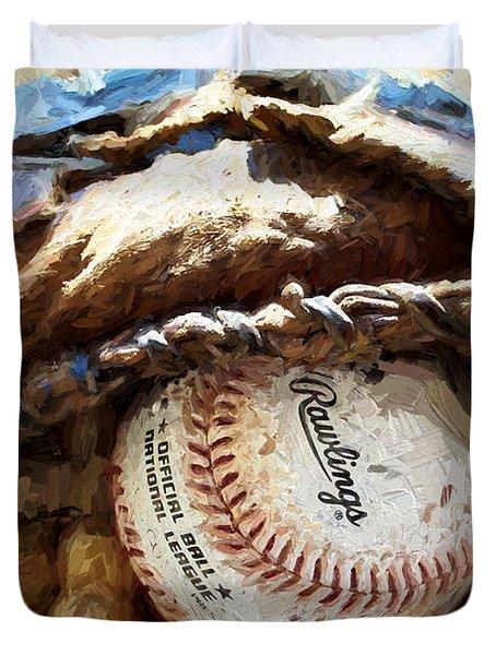 Baseball Nostalgia Duvet Cover