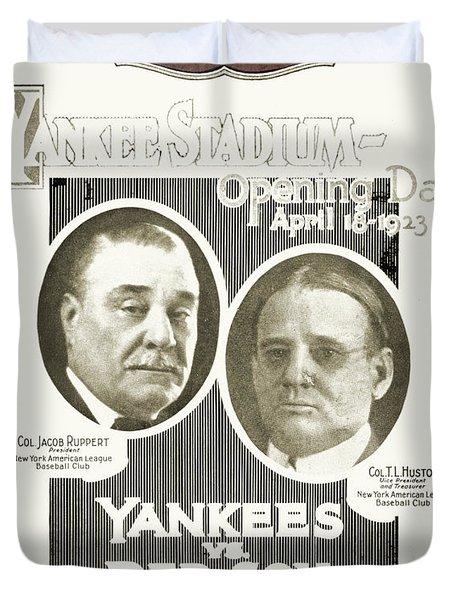 Baseball Program, 1923 Duvet Cover by Granger
