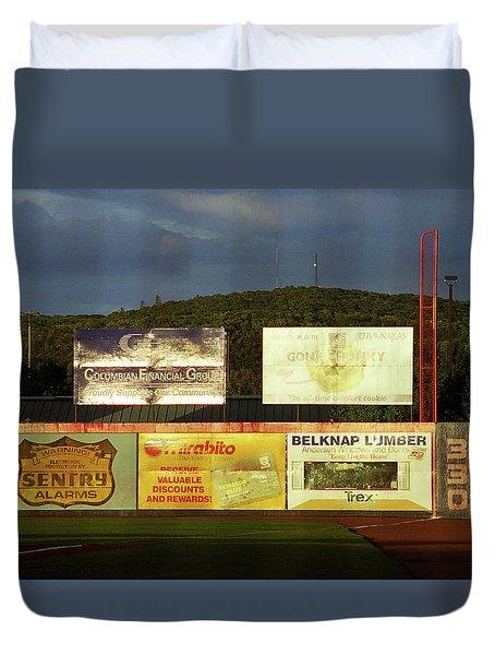 Baseball Sunset 2005 Duvet Cover by Frank Romeo