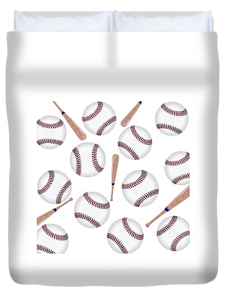 Baseball Toss Duvet Cover