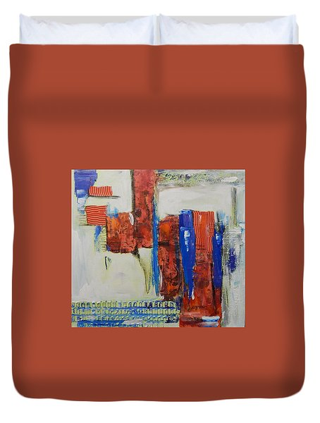 Based On True Events Duvet Cover by Sue Furrow
