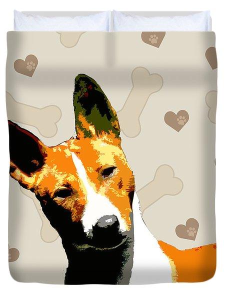 Basenji Duvet Cover by One Rude Dawg Orcutt