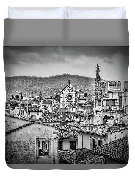Basilica Di Santa Croce Duvet Cover by Sonny Marcyan