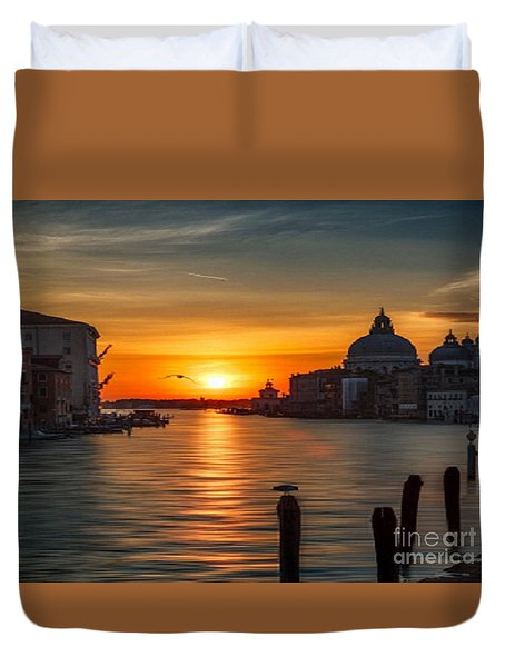 Basilica Di Santa Maria Dela Salute, Venice Duvet Cover