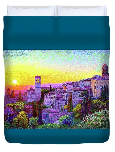 Basilica Of St. Francis Of Assisi Duvet Cover