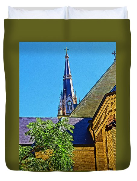 Basilica Of The Sacred Heart Notre Dame Duvet Cover by Dan Sproul