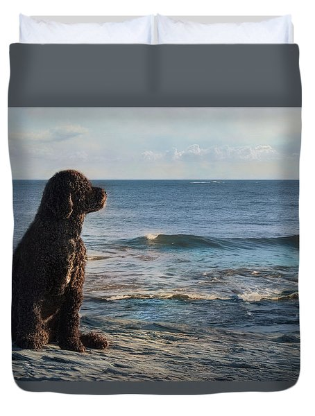 Duvet Cover featuring the photograph Bask In The Sun by Robin-lee Vieira