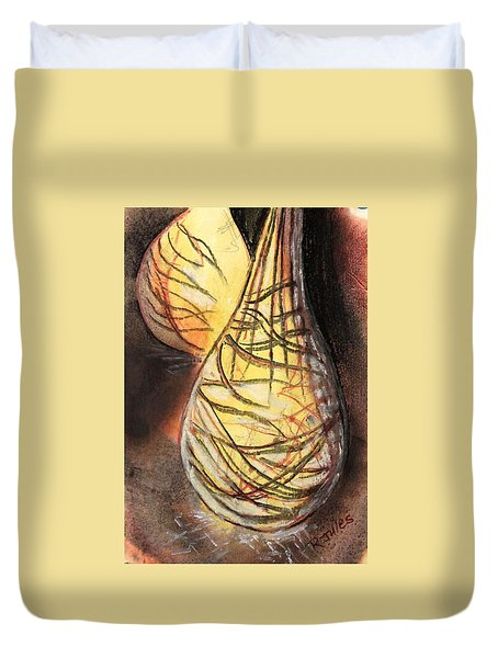 Basket Light Yellow Glow Duvet Cover