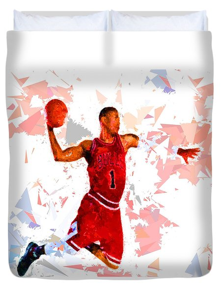 Duvet Cover featuring the painting Basketball 1 by Movie Poster Prints
