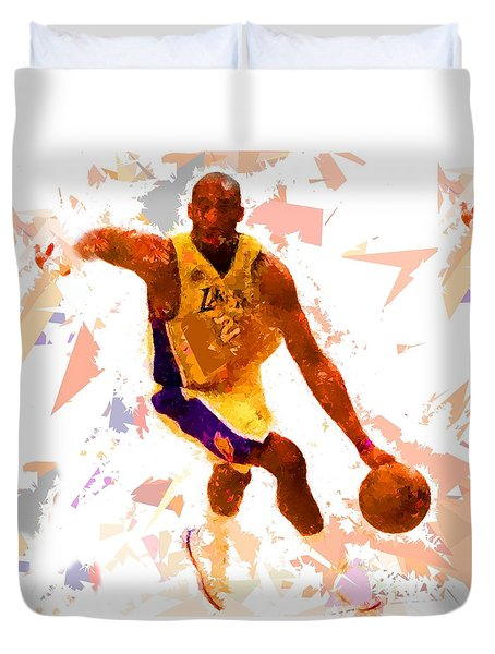 Duvet Cover featuring the painting Basketball 24 A by Movie Poster Prints