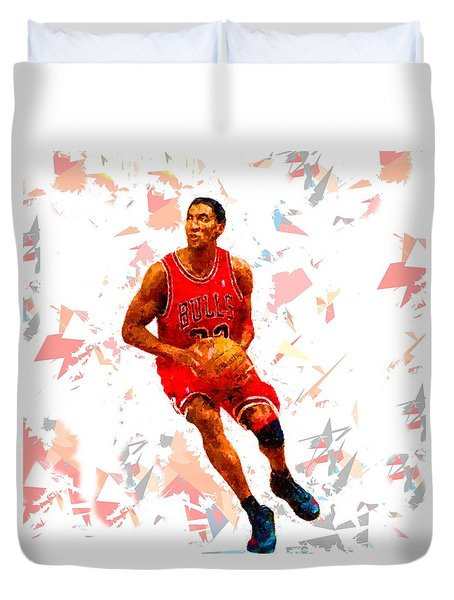 Duvet Cover featuring the painting Basketball 33 by Movie Poster Prints