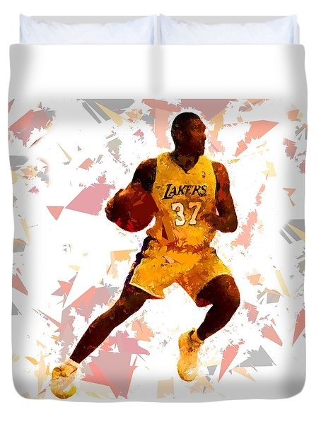 Duvet Cover featuring the painting Basketball 37 by Movie Poster Prints