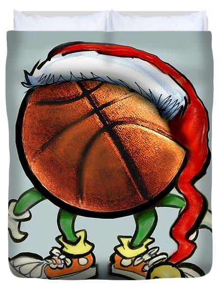 Basketball Christmas Duvet Cover by Kevin Middleton