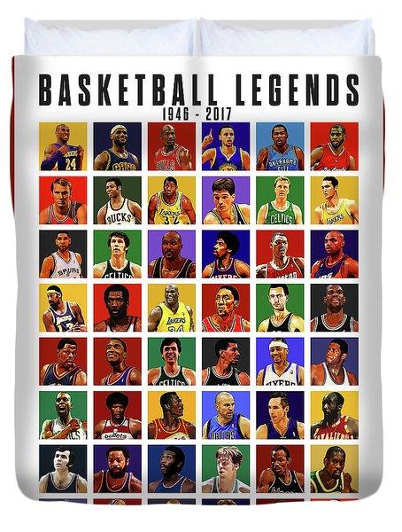 Basketball Legends Duvet Cover