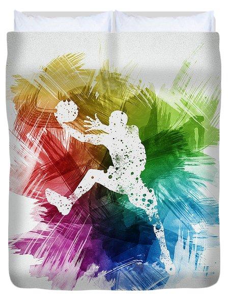 Basketball Player Art 04 Duvet Cover