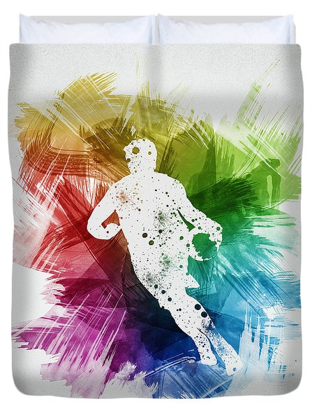 Basketball Player Art 08 Duvet Cover by Aged Pixel