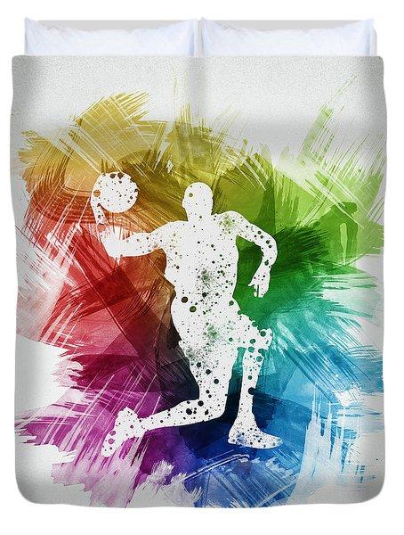 Basketball Player Art 12 Duvet Cover